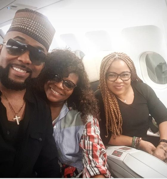 Here's Banky W, Kemi Adetiba and Tope Oshin #BNxAirFranceinHollywood Lagos to Los Angeles Experience