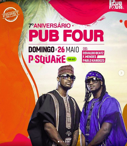 PSquare: Peter to sue show organiser over Paul's show in Angola